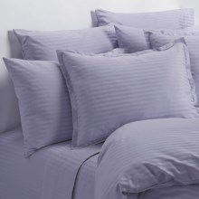 Melange Home Wide Dobby Stripe Pillowcases - Standard, 400 TC in Lavender - Overstock