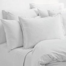 Melange Home Wide Dobby Stripe Pillowcases - Standard, 400 TC in White - Overstock