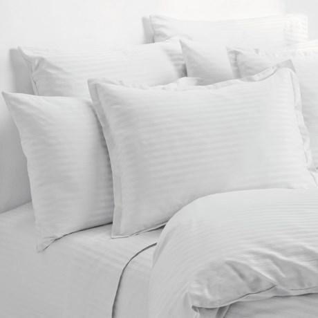 Melange Home Wide Dobby Stripe Pillowcases - Standard, 400 TC in White