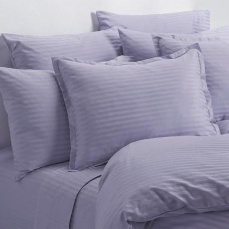 Melange Home Wide Dobby Stripe Sheet Set - Full, 400 TC in Lavender