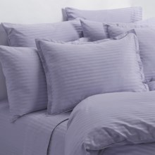 Melange Home Wide Dobby Stripe Sheet Set - King, 400 TC in Lavender - Overstock