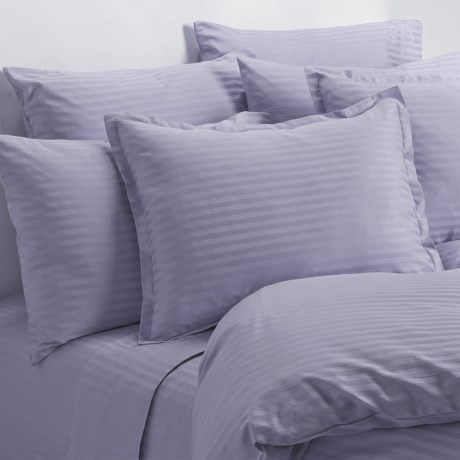 Melange Home Wide Dobby Stripe Sheet Set - King, 400 TC in Lavender
