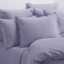 Melange Home Wide Dobby Stripe Sheet Set - Twin, 400 TC in Lavender - Overstock