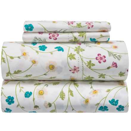 Melange Home Wildflower Sheet Set - Full, 400 TC in Multi - Closeouts