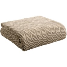Melange Home Yarn-Dyed Cotton Herringbone Blanket - Full/Queen in Taupe - Overstock