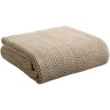 Melange Home Yarn-Dyed Cotton Herringbone Blanket - Twin/Twin XL