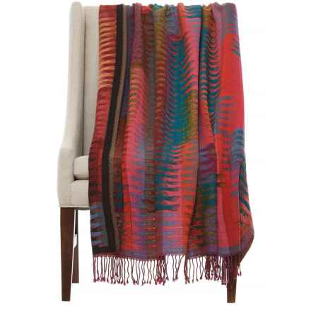 "Melange Home Yarn-Dyed Ikat Lightweight Throw Blanket - 50x70"", Merino Wool in Multi - Closeouts"