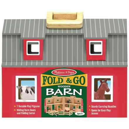 Melissa & Doug Fold & Go Barn Wood Toy in See Photo - Closeouts
