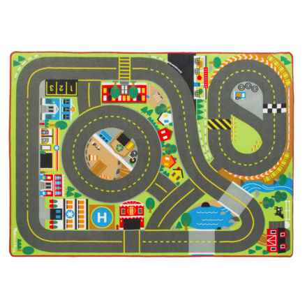 "Melissa & Doug Jumbo Roadway Activity Rug - 58x79"" in See Photo - Closeouts"