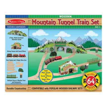 Melissa & Doug Mountain Tunnel Train Set in See Photo - Closeouts