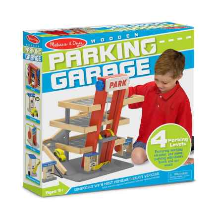 Melissa & Doug Wooden Parking Garage Play Set in See Photo - Closeouts
