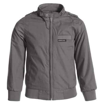 Members Only Iconic Jacket (For Little Boys) in Light Grey - Closeouts