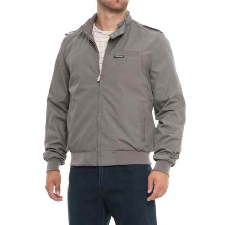 Members Only Iconic Racer Jacket (For Men) in Grey - Closeouts