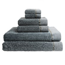 Members Only Stonewashed Turkish Cotton Towel Set - 6-Piece in Charcoal - Closeouts