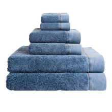 Members Only Stonewashed Turkish Cotton Towel Set - 6-Piece in Denim Blue - Closeouts