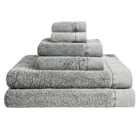 Members Only Stonewashed Turkish Cotton Towel Set 6 Piece