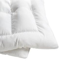 Memory Loft Classic Fiberfill Bed Topper - NanoTex Cover, Queen in White