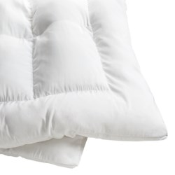 Memory Loft Classic Fiberfill Bed Topper - NanoTex Cover, Twin in White