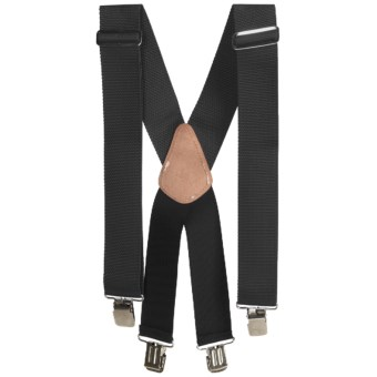Men At Work Adjustable Suspenders (For Men) in Black