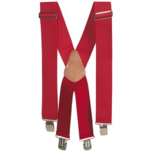 Men At Work Adjustable Suspenders (For Men) in Red - Closeouts