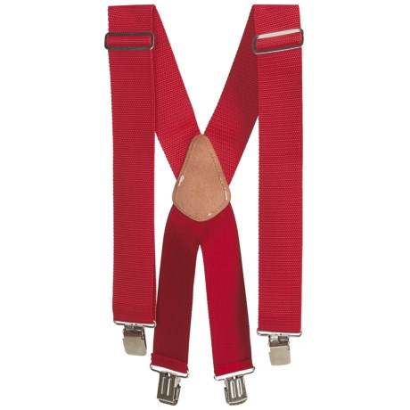 Men At Work Adjustable Suspenders (For Men) in Red