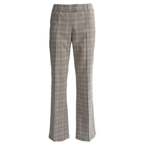 Menswear Trouser Pants (For Women) in Black/Yellow Plaid