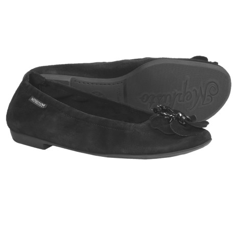 Mephisto Acarie Shoes - Flats (For Women) in Dark Brown Velcalf Premium