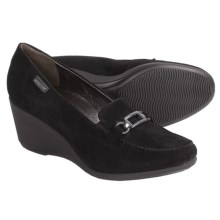 Mephisto Agueda Shoes - Wedge Heel (For Women) in Black Suede - Closeouts