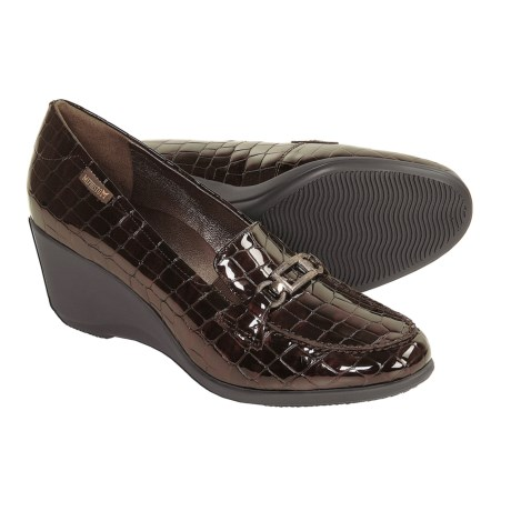 Mephisto Agueda Shoes - Wedge Heel (For Women) in Dk Brown Croc