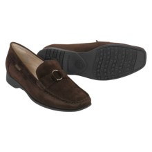 Mephisto Idelia Shoes - Suede Slip-Ons (For Women) in Dark Brown Suede - Closeouts