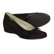 Mephisto Jaela Dress Shoes - Wedge Heel (For Women) in Black Suede - Closeouts