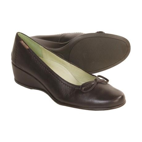 Mephisto Jaela Dress Shoes - Wedge Heel (For Women) in Dk Brown Napa