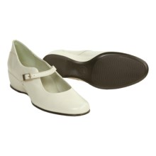 Mephisto Jaika Shoes - Mary Janes, Patent Leather (For Women) in Bone Nappa - Closeouts