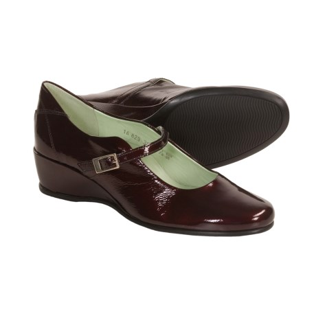 Mephisto Jaika Shoes - Mary Janes, Patent Leather (For Women) in Wine Crinkle Patent