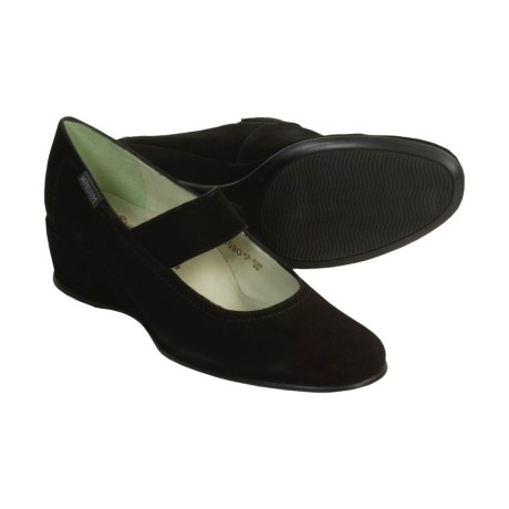 Mephisto Jakeza Mary Jane Shoes - Wedge Heel (For Women) in Black Suede