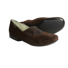 Mephisto Kalmina Shoes - Suede, Slip-Ons (For Women) in Dark Brown Suede - Closeouts