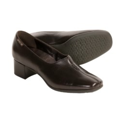 Mephisto Klarina Shoes - Leather Slip-Ons (For Women) in Dk Brown Murano