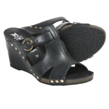 Mephisto Lelia Sandals - Leather (For Women) in Black Dune - Closeouts
