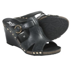 Mephisto Lelia Sandals - Leather (For Women) in Black Dune