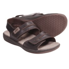 Mephisto Sagun Sandals - Leather (For Men) in Dark Brown Scratch - Closeouts