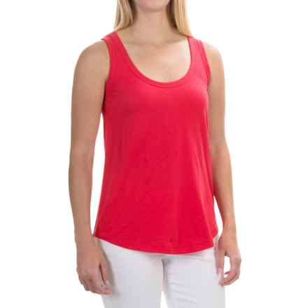 Mercer & Madison Cream Tank Top - Pima Cotton (For Women) in Flo Lipstick - Closeouts