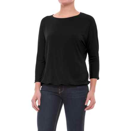 Mercer & Madison Dolman Shirt - Stretch Modal, 3/4 Sleeve (For Women) in Black - Closeouts