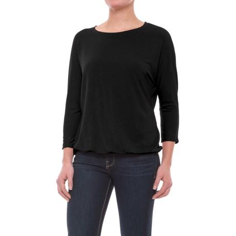Mercer & Madison Dolman Shirt - Stretch Modal, 3/4 Sleeve (For Women) in Black