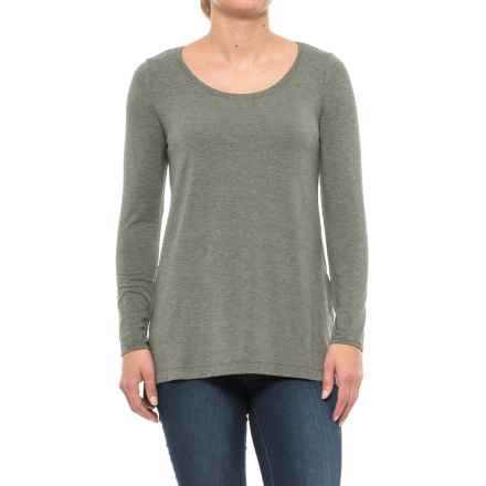 Mercer & Madison High-Low Shirt - Stretch Modal, Long Sleeve (For Women) in Trans Ivy Heather - Closeouts