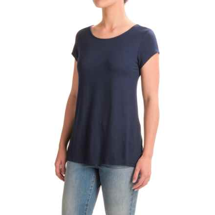 Mercer & Madison Low-Back T-Shirt - Short Sleeve (For Women) in Navy - Closeouts