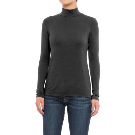 Mercer & Madison Mock Turtleneck - Stretch Modal, Long Sleeve (For Women) in Black