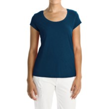 Mercer and Madison Pima Cotton Slub T-Shirt - Short Sleeve (For Women) in Navy - Closeouts