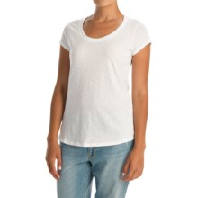 Mercer and Madison Pima Cotton Slub T-Shirt - Short Sleeve (For Women) in White - Closeouts