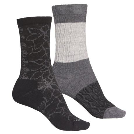 Merino Wool Blend Socks - 2-Pack (For Women) - MULTI (M ) -  SmartWool