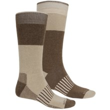 Merino Wool Boot Socks - 2-Pack, Mid Calf (For Men) in Tan - 2nds